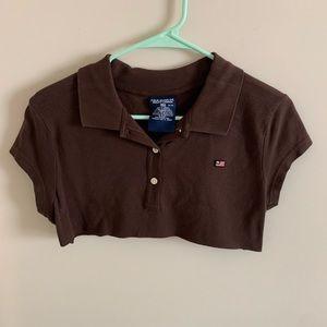 Polo by Ralph Lauren Tops - Medium Brown Polo Ralph Lauren Crop Top